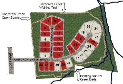 Sanford's Creek Lots Available